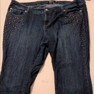 Fabulous Torrid premium 22 beaded jeans